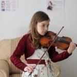 дете цигулка